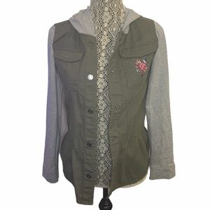 George Girls Hooded Military Jacket Size X-Large